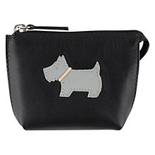 Buy Radley Heritage Dog Small Coin Purse, Black Online at johnlewis.com