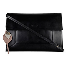 Buy Radley Border Large Leather Clutch Bag, Black Online at johnlewis.com