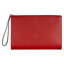 Buy Hobbs Camley Leather Wristlet Clutch Bag Online at johnlewis.com