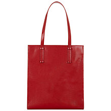 Buy Hobbs Claremont Leather Tote Bag, Red Patent Online at johnlewis.com