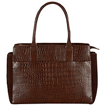 Buy Hobbs Finsbury Leather Grab Bag Online at johnlewis.com