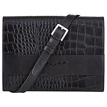 Buy Hobbs Brunswick Across Body Satchel Bag, Black Online at johnlewis.com
