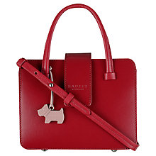 Buy Radley Aldwych Mini Leather Grab Bag, Red Online at johnlewis.com