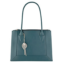 Buy Radley Border Medium Tote Bag, Blue Online at johnlewis.com