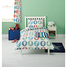 Buy little home at John Lewis Dino Was Here Spot Single Duvet Cover and Pillowcase Set Online at johnlewis.com
