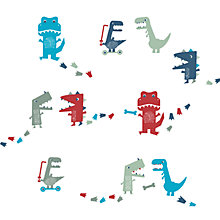 Buy little home at John Lewis Dino Was Here Wall Stickers Online at johnlewis.com