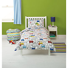 Buy little home at John Lewis Traffic Single Duvet Cover and Pillowcase Set Online at johnlewis.com