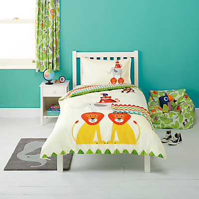little home at John Lewis Animal Fun Duvet Cover and Pillowcase Set