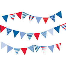 Buy little home at John Lewis Ahoy There Bunting Wall Stickers Online at johnlewis.com
