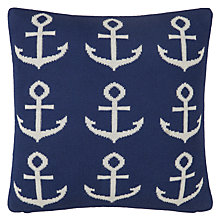 Buy little home at John Lewis Anchor Knitted Cushion Online at johnlewis.com