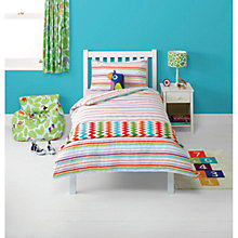 Buy little home at John Lewis Animal Fun Flanelette Duvet Cover and Pillowcase Set Online at johnlewis.com