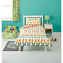 Buy little home at John Lewis Animal Fun Two By Two Single Animal Duvet Cover and Pillowcase Set Online at johnlewis.com
