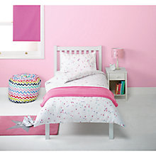Buy little home at John Lewis Little Fairy Princess Flannelette Spot Single Duvet Cover, Fitted Sheet & Pillowcase Set Online at johnlewis.com