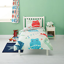 Buy John Lewis Dino Single Duvet Cover and Pillowcase Set Online at johnlewis.com