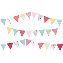 Buy little home at John Lewis Little Fairy Bunting Wall Stickers Online at johnlewis.com