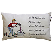 Buy Roald Dahl George's Marvellous Medecine Embroidered Cushion Online at johnlewis.com