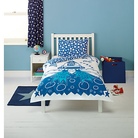 Buy little home at John Lewis Space Duvet Cover and Pillowcase Set, Single Online at johnlewis.com