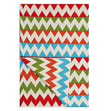 Buy little home at John Lewis Animal Fun Knitted Chevron Throw Online at johnlewis.com