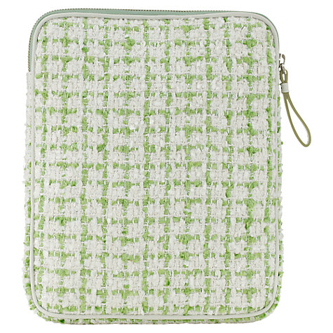 Buy Jigsaw Tweed iPad Case, Green Online at johnlewis.com