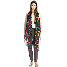 Buy Warehouse Botanic Acid Scarf, Black Online at johnlewis.com