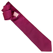Buy Thomas Pink Gordon Neat Woven Silk Tie, Pink Online at johnlewis.com