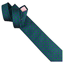 Buy Thomas Pink Holywell Flower Woven Silk Tie, Green/Blue Online at johnlewis.com