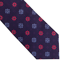 Buy Thomas Pink Grimsby Flower Woven Silk Tie, Navy/Pink Online at johnlewis.com