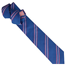 Buy Thomas Pink Newport Stripe Woven Silk Tie Online at johnlewis.com