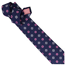Buy Thomas Pink Grimsby Floral Silk Tie, Navy/Pink Online at johnlewis.com