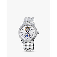 Buy Frédérique Constant FC-335MC4P6B2 Men's Moon-Phase Steel Bracelet Watch, Silver Online at johnlewis.com