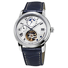Buy Frédérique Constant FC-945MC4H6 Men's Manufacture Heart Beat Leather Strap Watch, Navy Online at johnlewis.com