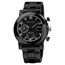 Buy Gucci Unisex G-Chrono Ceramic Strap Chronograph Watch Online at johnlewis.com