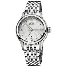 Buy Oris 56176874071MB Women's Stainless Steel Bracelet Watch, Silver Online at johnlewis.com
