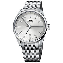 Buy Oris 73376424031MB Men's Artix Date Stainless Steel Automatic Watch, Silver Online at johnlewis.com