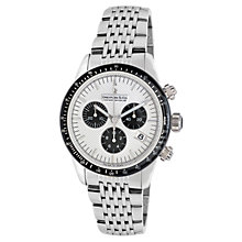 Buy Dreyfuss & Co DGB00032/06 Men's 1953 Sports Chronograph Watch, White Online at johnlewis.com