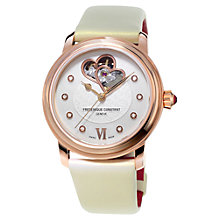 Buy Frédérique Constant FC-310WHF2P4 Women's Constant Automatic Satin Strap Watch, Cream Online at johnlewis.com