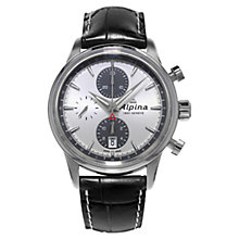 Buy Alpina AL-750SG4E6 Men's Automatic Chronograph Watch, Silver Online at johnlewis.com