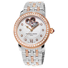 Buy Frédérique Constant FC-303WHF2PD2B3 Women's Constant Automatic Mother Of Pearl Watch Online at johnlewis.com