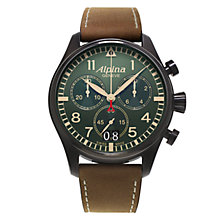 Buy Alpina Men's Startimer Chronograph Fabric Strap Watch Online at johnlewis.com