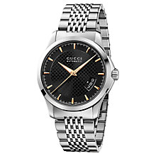 Buy Gucci YA126420 Men's G-Timeless Automatic Bracelet Strap Steel Watch, Silver Online at johnlewis.com