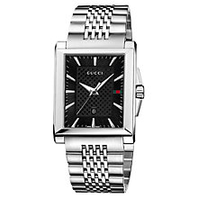 Buy Gucci YA138401 Men's G-Timeless Rectangle Dial Bracelet Watch, Silver Online at johnlewis.com