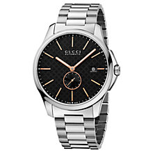 Buy Gucci YA126312 Men's G-Timeless Automatic Bracelet Strap Watch, Black Online at johnlewis.com