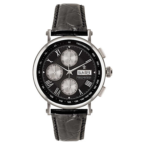 Buy Dreyfuss & Co Men's Chronograph Leather Strap Watch Online at johnlewis.com