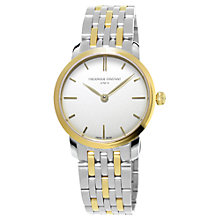 Buy Frédérique Constant Women's Slimline Stainless Steel Bracelet Watch Online at johnlewis.com