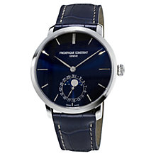 Buy Frédérique Constant Slimline Moon-Phase Leather Alligator Strap Watch Online at johnlewis.com
