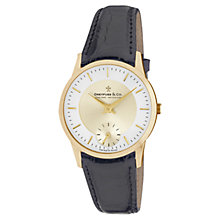 Buy Dreyfuss & Co DGS00002/03 Men's Single Chronograph Leather Strap Watch, Champagne Online at johnlewis.com