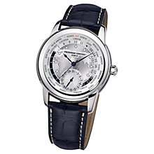 Buy Frédérique Constant Worldtimer Automatic Men's Alligator Strap Watch Online at johnlewis.com