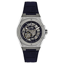 Buy Dreyfuss & Co DGS00079/05 Men's Skeleton Dial Watch, Silver Online at johnlewis.com