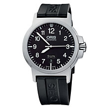 Buy Oris 0173576414164-0742205 Men's Automatic BC3 Advanced Day & Date Watch, Black Online at johnlewis.com