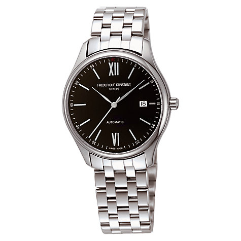 Buy Frédérique Constant FC-303BN5B6B Men's Slim Automatic Bracelet Strap Watch, Black Online at johnlewis.com